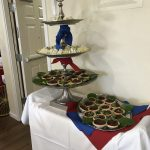 Chef Dan prepared cucumber sandwiches and chocolate drizzled cherry tarts.
