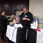 Chef Dan E. treats residents to refreshing smoothies using fresh summer fruits. This is one of the favorites of our residents and they look forward to having it more often this Spring!