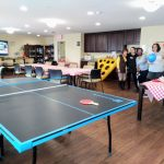 Fremont Hills staff were ready to escort residents to this fun event. Games were all set up, Chef Dan prepared a fun picnic basket and welcoming music to brighten their day. The ping pong table was used to play Balloon-Pong using balloons rather than ping pong balls. Perfect for the residents!