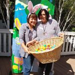 Volunteer Annabelle and Coummunity Life Assistant Jessica had lots more Easter eggs to hide