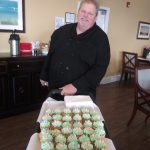 Chef Dan baked these delicious cupcakes for the residents and children