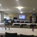 Setting up for Lunch and Learn about Assisted Living