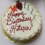 Hitexa was so happy to see that her favorite cake was ordered.