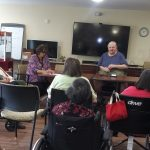Resident Council President, Warren & Vice President Pearl leading our meeting on July 9, 2019. Residents were eager to share their thoughts and ideas.