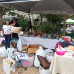Fremont Hills hairdresser, Brandi and her granddaughter Gia selling lots of pretty things from her salon