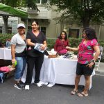 Memory Care Program Director Janice and Naya, Gigi with our Nurse Hitexa and her mother