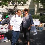 One of our wonderful Chefs , Luz with Executive Director, Joan Newman