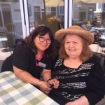 Caregiver Josephine and resident Sandy